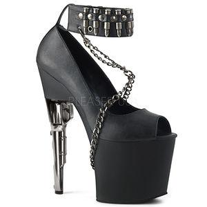 Shoes - High Heel Platform Bullet Chain Peep Toe Shoes